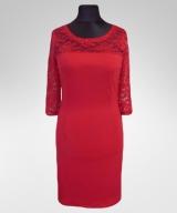 Sukienka Michelle/ czerwona z koronką